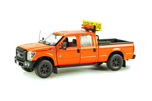 Ford F250 Pickup Truck w/Crew Cab & 6ft Bed - DOT Orange