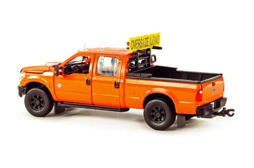 Ford F250 Pickup Truck w/Crew Cab & 6ft Bed - DOT Orange