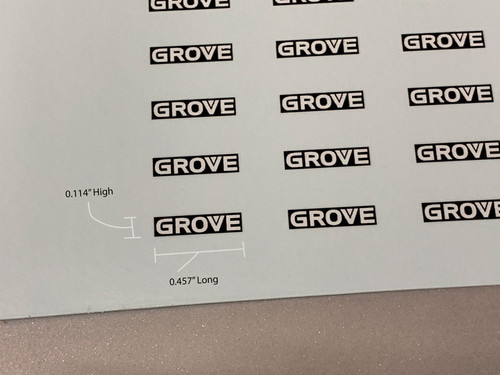 Grove Decals for NZG 7550/7450 Counterweights