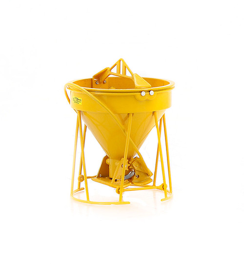 "Gar-Bro ""R"" Series Lightweight Round-Gate Concrete Bucket - Yellow"