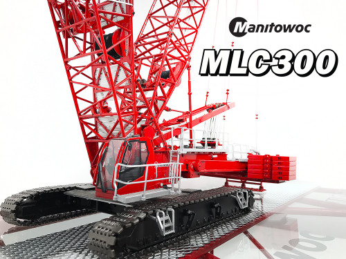 1:50 scale Manitowoc MLC300 pre-production prototype. Details subject to change. Actual production configuration shown.
