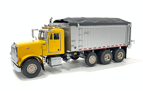 East Genesis Dump on Peterbilt 357 - Yellow