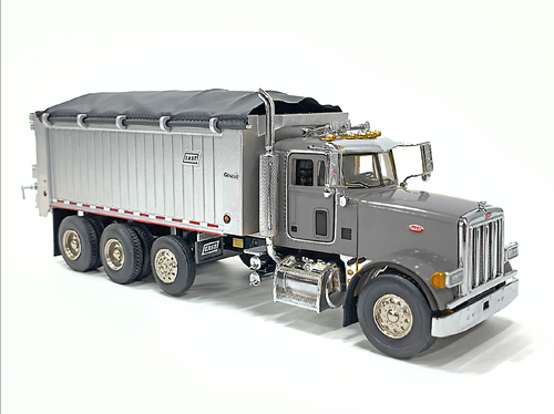 East Genesis Dump on Peterbilt 357 - Silver