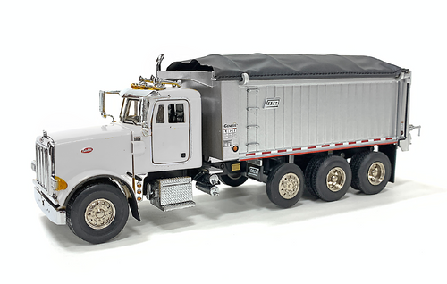 East Genesis Dump on Peterbilt 357 - White