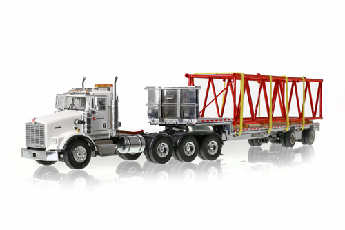 Kenworth T800 - White with Black East Drop deck
