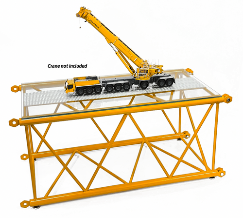 Lattice Boom Section Display Table - Liebherr/Sarens Yellow