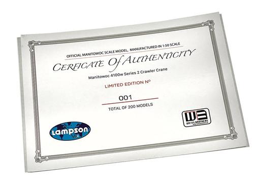 Lampson Certificate