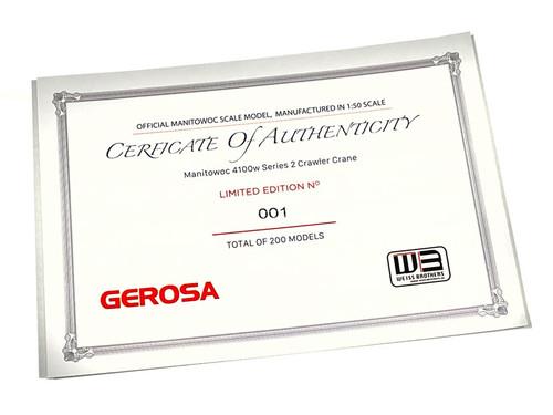 Gerosa Limited Quantity Certificate