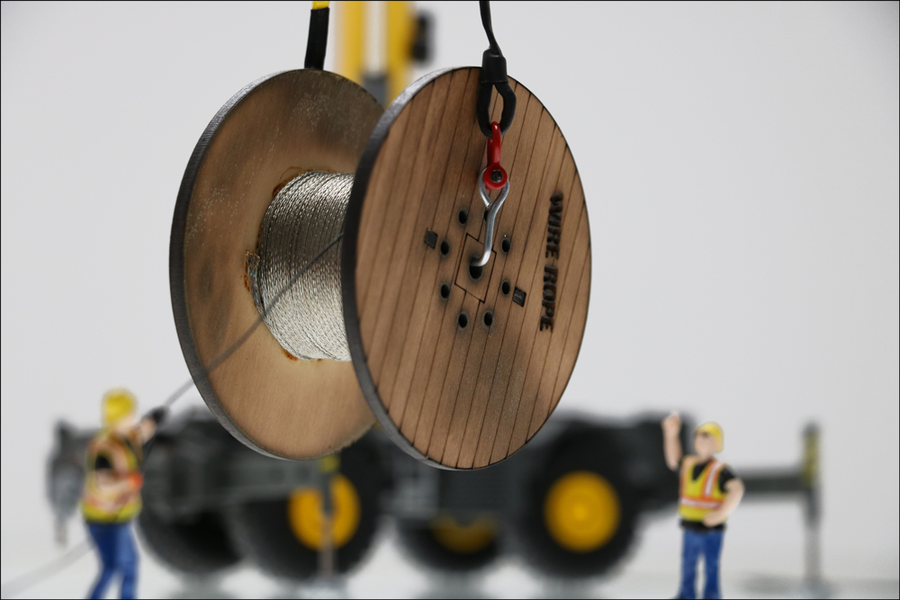 Brand New Awesome Laser Cut Cable Reel Crane Loads FOR SALE!