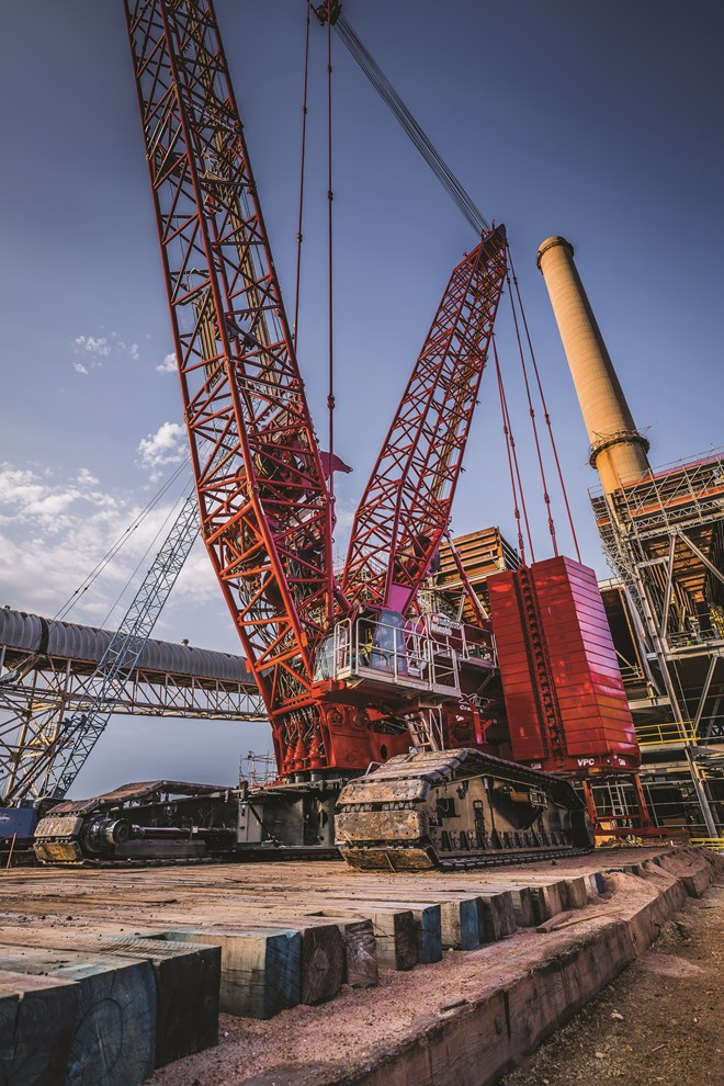 Manitowoc MLC650 Gets The Call For Huge Power Plant Project