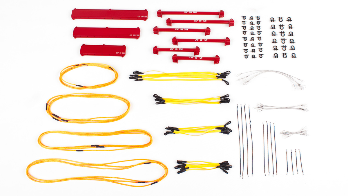 121 Piece Lifting Kit with Spreader Beams