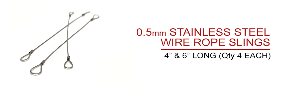 Includes 8 Wire Rope Slings