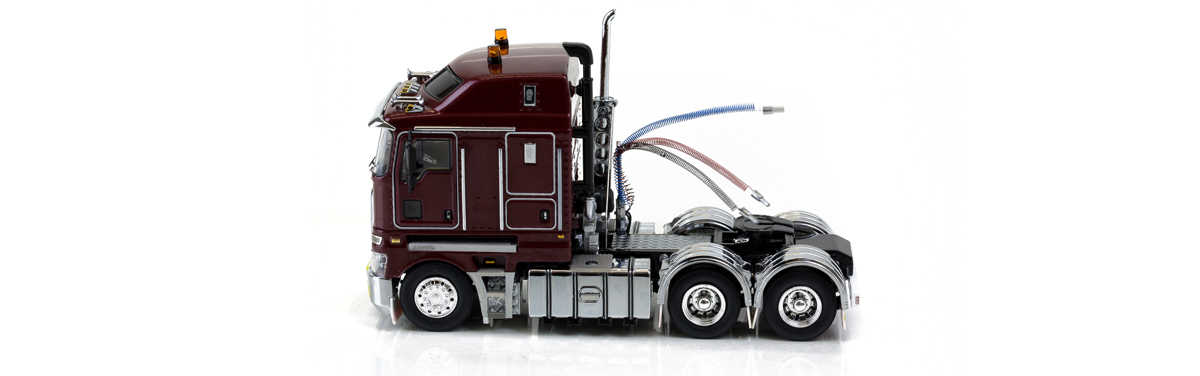 1:50 scale Kenworth K200 - Vintage Burgundy diecast model