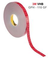 3M VHB GPH 110 GF kétoldalú akril szalag, magas habszilárdság, erős kötéserő jellemzi.