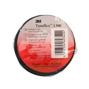 3M Temflex 1300 Scotch PVC szigetelőszalag 19 mm x 20 m, fekete színben