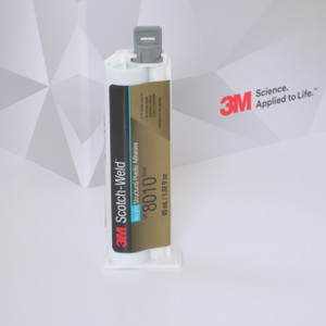 3M DP 8010 kétkomponensű akril bázisú ragasztó. Ajánljuk műanyagok és kompozit anyagok ragasztására.