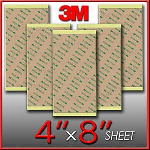 3M 300 LSE  kétoldalas lamináló ragasztó, íves kiszerelés, választható méretekben. 550 mm x 610 mm