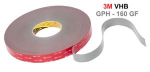 3M VHB GPH 160 akril, erős tapadás különböző felületeken, magas hőtűrés jellemzi,