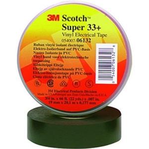 A Scotch® Super 33+™ szalag villamos ipari felhasználásra tervezett prémium minőségű PVC szigetelő/rögzítőszalag. Ez a professzionális minőségű ragasztószalag minden felülethez rendkívül jól illeszkedik, jó a rugalmassága szélsőséges időjárási viszonyoknak ellenáll, nedvességálló elektromos és mechanikai védelem kialakítására. UL, CSA és VDE által jóváhagyott.