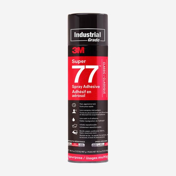 3M super 77 spray ragasztó 500ml. Alkalmas könnyű súlyú anyagok ragasztásához pl: nikecel, hungarocel, textiliák, dekorációs elemek.