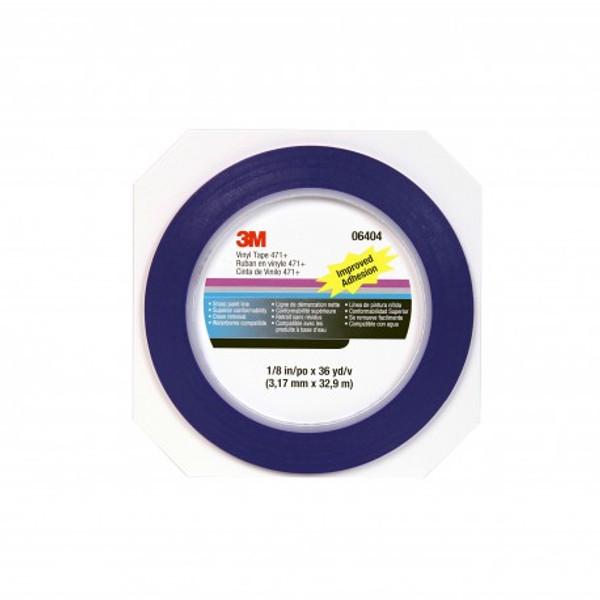 3M Fine Line 471+ vinyl maszkolószalag,  jelölőszalag, 3,17 mm x 32,9 m