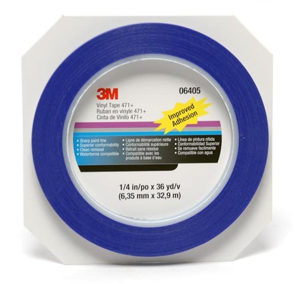 3M Fine Line 471+ vinyl maszkolószalag,  jelölőszalag,  6,35 mm x 32,9 m