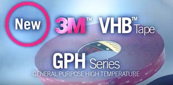 Az új rendszerű, erős, kétoldalas szalagok generációja a 3M GPH ragasztószalag család
