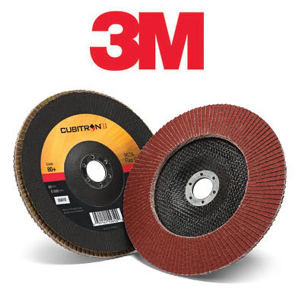 3M 969F  Cubitron II legyezőtárcsa D=125mm P40+ B típus / Conical  54168 HSRshop 3M csiszolás ragasztás