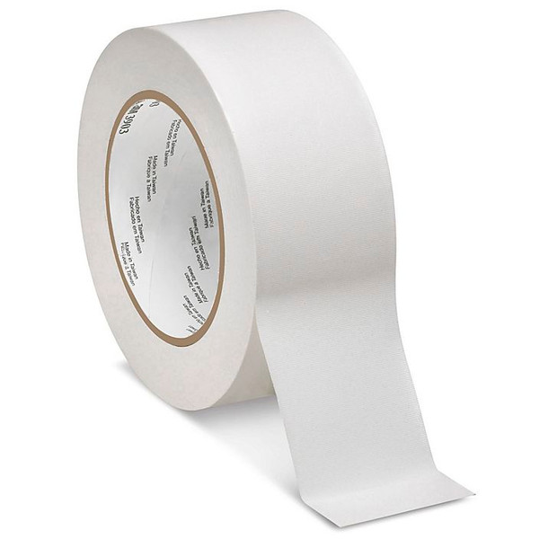 3M Scotch 389 fehér duct tape, erősített textil hordozós ragasztószalag, PE bevonattal 50 mm x 50 m