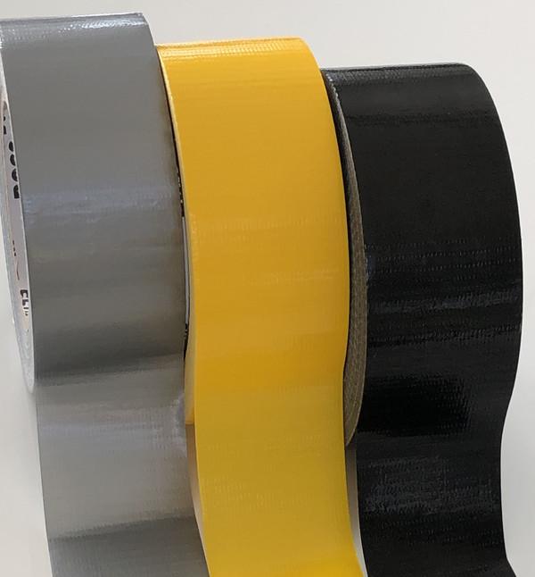 kötegelésre, jelölésre, beltéren árúk rögzítésére ajánlott szövet erősített PVC fóliás ragasztószalag.