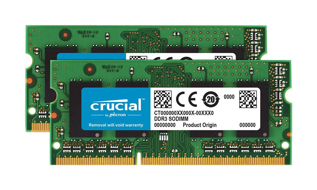 Crucial 16GB 2 x 8GB PC3-12800 12800U 1600 MHz Non-ECC DDR3 CT102464BA160B
