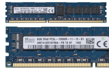 Hynix 8GB DDR3 1600MHz PC3-12800 240-Pin ECC Registered CL11 DIMM 1.35V Low Voltage Dual Rank Desktop Memory HMT41GR7AFR8A-PB