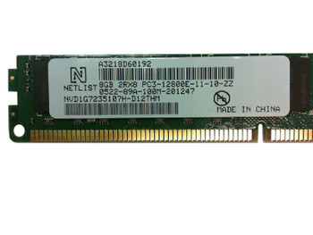 Netlist 8GB DDR3 1600MHz PC3-12800 240-Pin DIMM ECC Unbuffered Dual Rank Desktop Memory NVD1G7235107H-D12THM