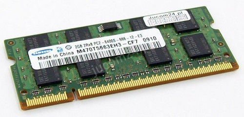 Samsung 2GB DDR2 800MHz SODIMM Laptop Memory M470T5663EH3-CF7