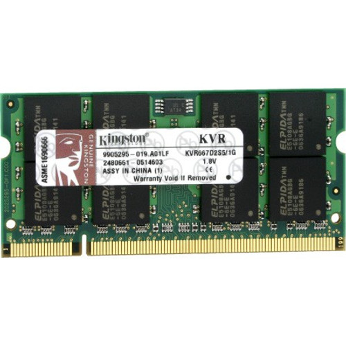 Kingston 2GB DDR2 667MHz 200-pin SODIMM Laptop Memory KVR667D2S5/2G