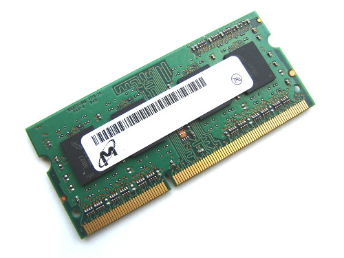 Micron 4GB DDR3 1333MHz PC3-10600 non-ECC Unbuffered SoDIMM Rank1 OEM Memory MT8KTF51264HZ-1G4E1