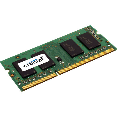 Crucial 8GB DDR3 1600MHz PC3-12800 204p non-ECC Unbuffered Dual Rank SoDIMM OEM Memory CT8G3S160BM