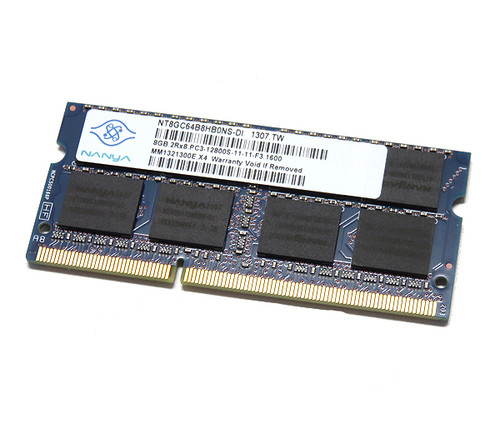 Nanya 8GB DDR3 1600MHz PC3-12800 non-ECC Unbuffered SoDIMM Dual Rank OEM Memory NT8GC64B8HB0NS-DI