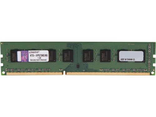 Kingston 8GB DDR3 1600MHz PC3-12800 240-Pin DIMM non-ECC Unbuffered Dual Rank Desktop Memory KTD-XPS730C/8G