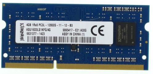 Kingston 4GB DDR3 1600MHz PC3-12800 204-Pin SoDIMM Single Rank Notebook Memory ASU16D3LS1KFG