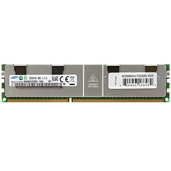 Samsung 32GB DDR3 1600MHz PC3-12800 240-Pin ECC Registered 1.35V LV Quad Rank DIMM Server Memory M386B4G70DM0-YK0