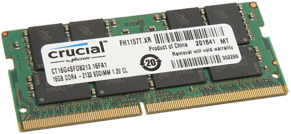 Crucial 16GB DDR4 2133MHz PC4-17000  Laptop Memory CT16G4SFD8213
