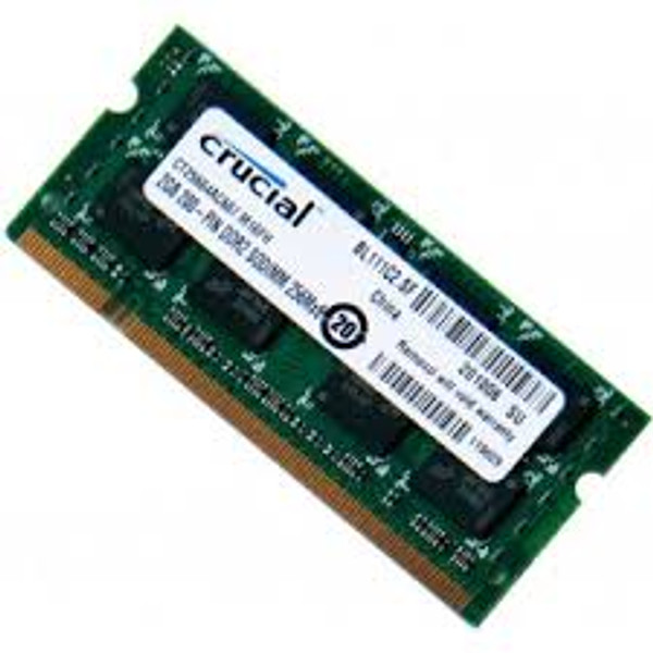 Crucial 2GB 200-Pin DDR2 667 PC2 5300 SoDIMM Memory CT25664AC667