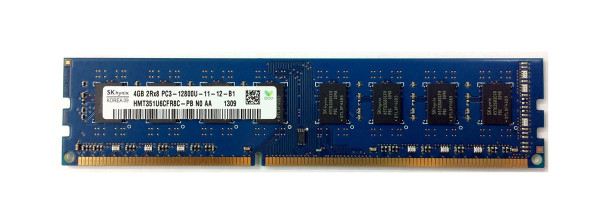 Hynix 4GB DDR3 1600MHz PC3-12800 240-Pin non-ECC Unbuffered CL11 DIMM DUAL RANK Oem Desktop Memory HMT351U6CFR8C-PB