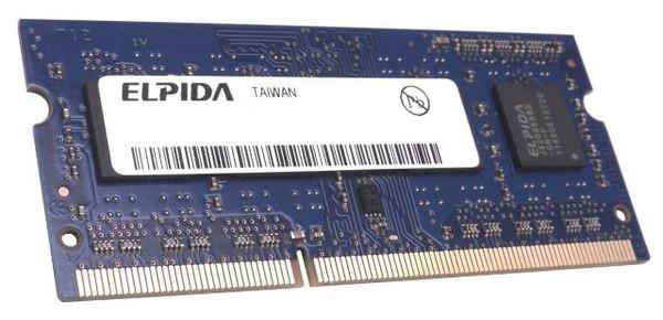 Elpida 8GB DDR3 1600MHz PC3-12800 non-ECC Unbuffered CL9 204-Pin SoDIMM Dual Rank 1.35V Notebook Memory EBJ81UG8EFU0-GN