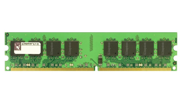 Kingston 2GB DDR2 667MHz PC2-5300 240-Pin ECC Unbuffered Single Rank DIMM Desktop Memory KVR667D2E5/2G