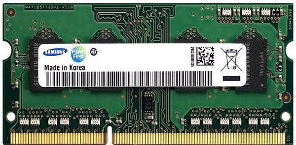 Samsung 8GB DDR3 1600MHz PC3-12800 204-Pin non-ECC Unbuffered Dual Rank SoDIMM OEM Notebook Memory M471B1G73BH0-CK0