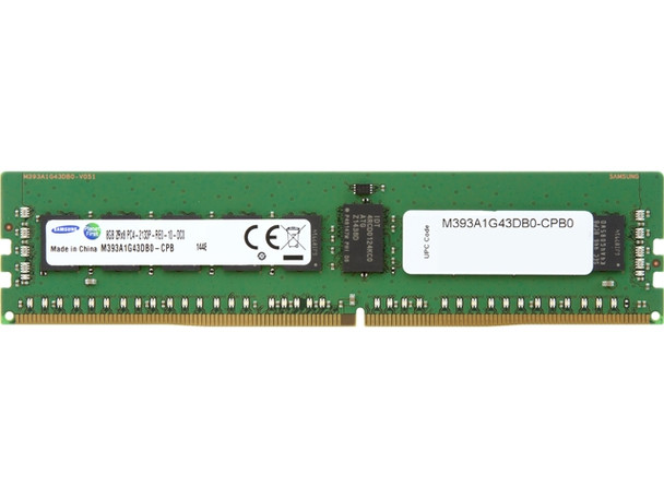 Samsung 8GB DDR4 2133MHz PC4-17000 288-Pin ECC Registered 1.2V Dual Rank DIMM Server Memory M393A1G43DB0-CPB