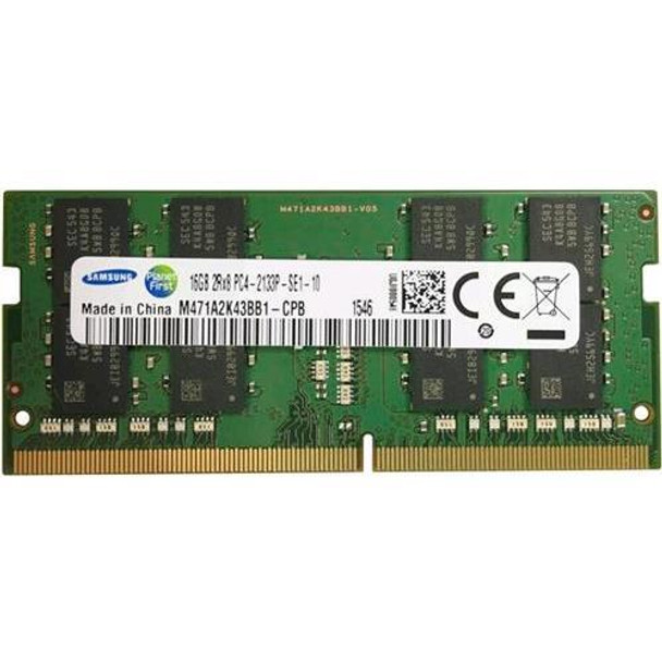 Samsung 16GB DDR4 2133MHz PC4-17000 204-Pin non-ECC Unbuffered 1.2V Dual Rank SoDIMM Laptop Memory M471A2K43BB1-CPB