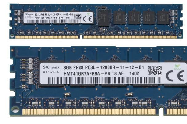 Hynix 8GB DDR3 1600MHz PC3-12800 240-Pin ECC Registered CL11 DIMM 1.35V Low Voltage Dual Rank Desktop Memory HMT41GR7AFR8A-PB